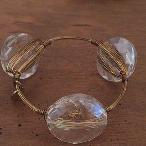 Bourbon & Boweties clear stone bracelet